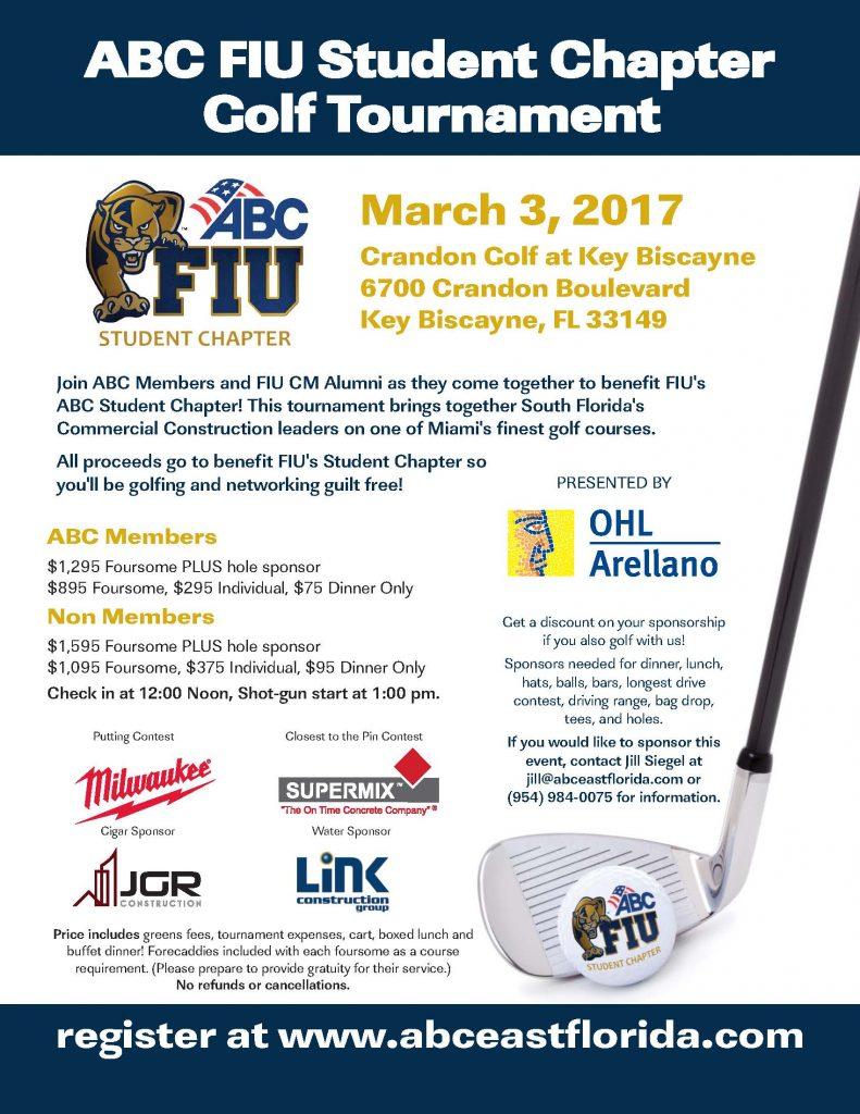 ABC FIU Student Chapter Golf Tourament - FIU Moss School of