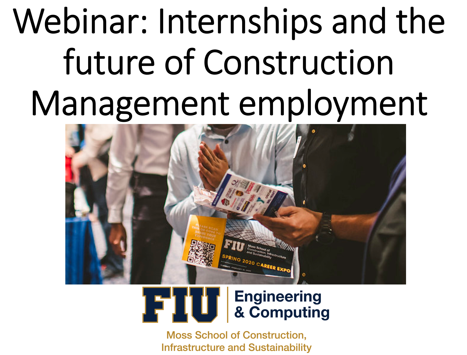 Webinar: Internships and the future of Construction Management employment